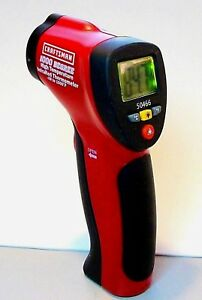 Craftsman High Temp Infared Non contact Laser Thermometer Lcd Backlight Hold