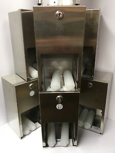 Lot Of 8 Bradley 5a10 11 Toilet Paper Dispenser Stainless Steel Dual Roll New