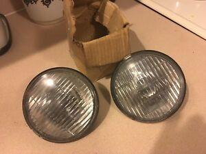 Nos Guide 5 Fog Lamps Bulbs Pair Vintage 40 S 50 S Chevy Pontiac Buick