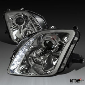 For 1997 2001 Honda Prelude Smoke Smd Led Strip Projector Headlights Head Lamps