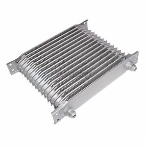 Cx Engine Transmission Aluminum Universal 16 Row Oil Cooler 8 An Inlet Outlet