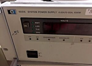 Hp Agilent 6031a Dc Power Supply 0 20v 0 120a 1kw For Parts Or Repair