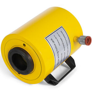 60t 2 Stroke Single Acting Hollow Ram Hydraulic Cylinder Jack Durable