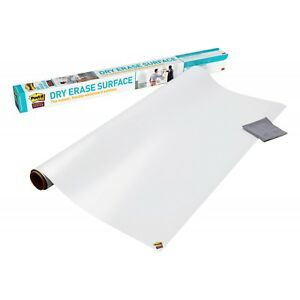 Dry Erase Board Surface Self Stick Film White Marker Wall Office School 8x4 Feet
