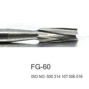 100pcs Dental Tungsten Carbide Burs Fg 60 High Quality