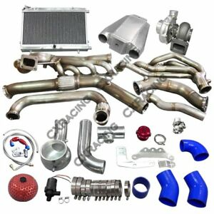 Cx Turbo Header Manifold Intercooler Heat Exchanger Kit For 65 Ford Mustang V8