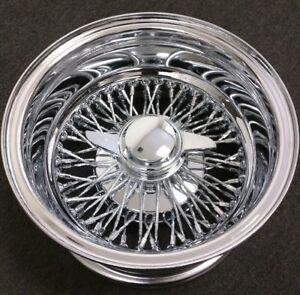 New 13x7 Reverse Lowoffset Wire Wheels 72 Cross Lace Spoke Complete Set Of 4