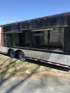 8 X 48 Mobile Kitchen Concession Trailer With Truck For Sale In Arkansas