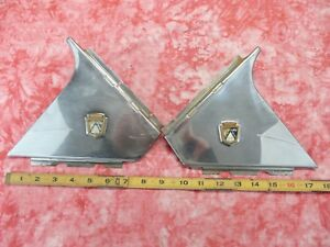 1951 Ford Crown Victoria C Pillar Mouldings Pair
