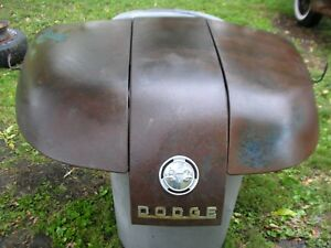Vintage 1950 s Dodge Truck Bi fold Hood With Emblems