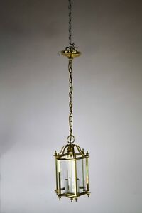 Vintage Brass 3 Candle Pendant Light