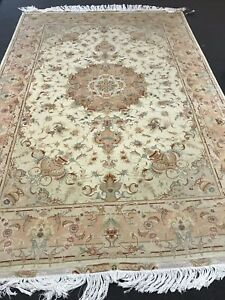 New 82 X121 Authentic Large Real Persian Rug Hand Knotted Silk