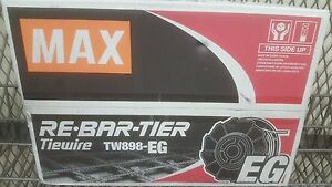 Max Tw898eg Electric Galv Rebar Tie Wire For Rb 398 397 395 518 517 515 Series