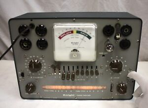 Vintage Knight 600 Tube Tester With Roll Chart Tested Against A Hickok 6000a
