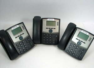 Lot Of 3 Cisco Spa303 Ip 3 line Business Phone W handset Stand