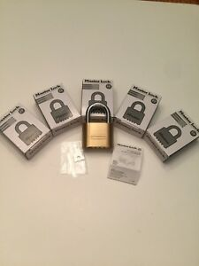 6 Pack Master Lock 175 brass Re settable Combination padlock 1 inch Shackle