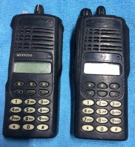 2x Motorola Mtx9250 900mhz Aah25wch4gb6an Police Fire Ems Two Way Radio parts