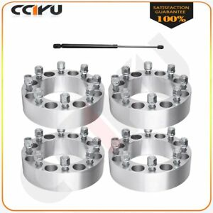 Set 2 Thick 8x6 5 Wheel Spacers 2pc Front Hood Lift Struts For 88 97 Ford F350