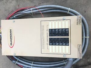 Guardian Generac 100amp Automatic Transfer Switch Electric Panel 12 Circuit