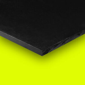Delrin Acetal Plastic Sheet 1 4 X 12 X 12 Black Color