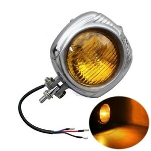 Retro Electroline M10 Bolt Headlight Lamp For Harley Chopper Custom Bike Bobber
