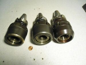 Big Narex Bt40 Cnc Tool Holder Mill Chuck Lot Of 3
