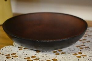 Primitive Round Treen Bowl Reproduction 8 Home Decor Early Kitchen