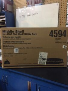 Rubbermaid 4594 Optional Middle Shelf For 4505 Utility Cart 30 5 X 19 X 5 3