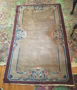 Vintage Antique Art Deco Peking Chinese Nichols Style Oriental Rug