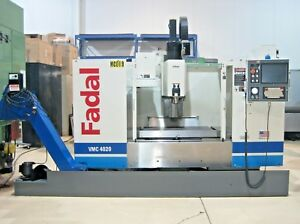 Fadal Vmc 4020 Cnc Vertical Machining Center Mill 4th Axis Chip Conveyor 10k