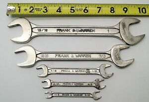 5 Pc Frank Warren Open End Wrench Set 15 16 Thru 5 16 Aircraft Tools