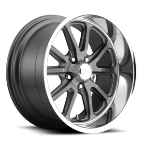 Us Mags Rambler U111 20x8 1 Gunmetal W Machined Lip Wheel 5x127 5x5 Qty 1