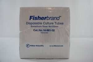 Fisherbrand Disposable Borosilicate Glass Tubes W Plain End 250 pack 14 961 30