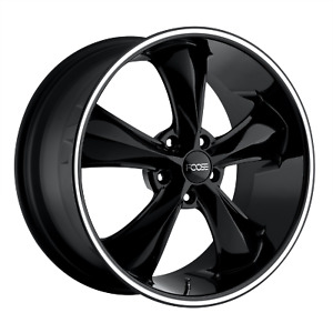 Foose Legend F104 17x8 1 Gloss Black Milled Wheel 5x120 7 5x4 75 Qty 4