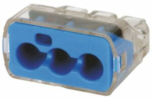 Ideal Blue Push in Connector 3 Port Connector Type 30 1039j