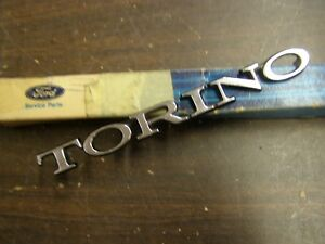 Nos Oem Ford 1968 1969 1970 Torino Deck Lid Emblem Ornament Script Trunk Trim