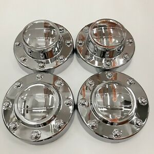 New 2011 2016 Dodge Ram 3500 Dually 1 ton Truck Alcoa Wheel Center Hub Caps Set