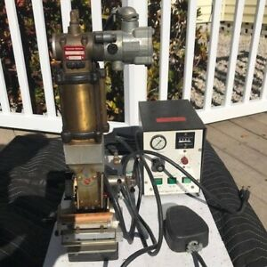 Howard Personalizer Hot Foil Stamping Imprinting Press Model 150pn Air powered