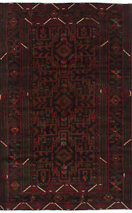 Hand Knotted Carpet 4 0 X 6 5 Traditional Vintage Wool Rug