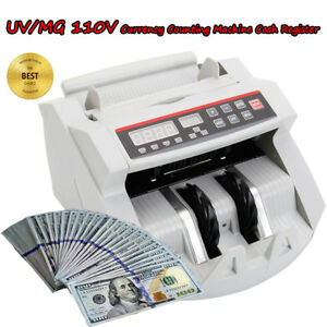 Money Bill Cash Counter Bank Counting Machine Counterfeit Detector Uv