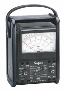 Simpson Electric Analog Multimeter 1000 Max Ac Volts 260 8prt