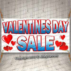 Valentines Day Sale Advertising Vinyl Banner Flag Sign Many Sizes Available fix
