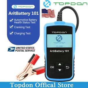Topdon Ab101 Car Battery Tester Analyzer Cranking Charging Test 12v Cca100 2000