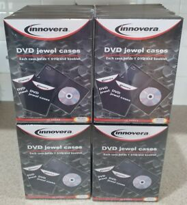 4 Packs Of 10 Innovera Dvd Jewel Cases 40 Black Cases Total Free Shipping