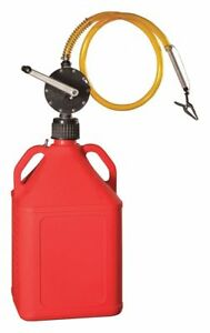Action Pump Gaspror Rotary Barrel Pump With 15 Gal Red Jug