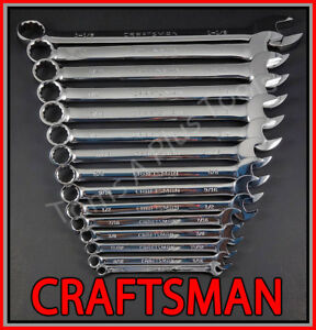 Craftsman Tools 36pc Full Polish Long Beam Sae Metric Mm Combination Wrench Set