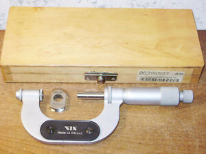Vis 1 2 Inch Thread Pitch Micrometer W 6 Anvil Sets Standard Made In Poland