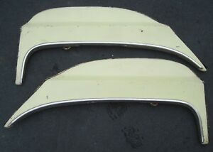 Factory Original 1964 1966 Thunderbird Fender Skirts With Lower Molding