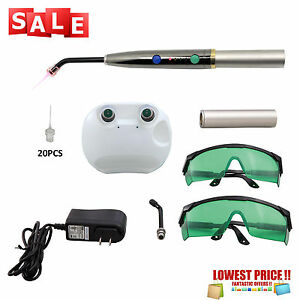 Dental Heal Laser Diode Rechargeable Hand held Pain Relief Pad Lamp Pen 20 Tips