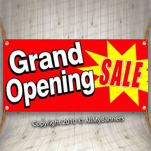 Grand Opening Sale Advertising Vinyl Banner Flag Sign Many Sizes Available Fix